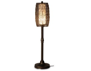 Fifthroom.com's Outdoor Wicker Barrel Floor Lamp makes a statement at any party.