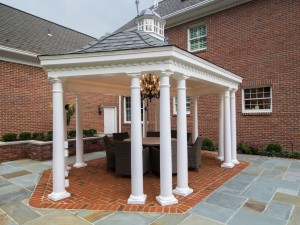 Fifthroom.com's 12' x 18' Vinyl Elongated Hexagon Belle Gazebo makes for an intimate party setting!