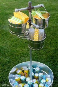 Drink Station idea for Memorial Day party