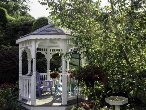 Fifthroom.com's gazebos create a structural statement in your outdoor space
