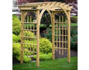 Treated Pine Roman Arch Arbor