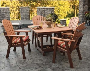 patio furniture and a hardscaped outdoor area