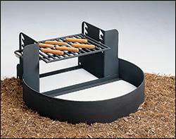 Dual purpose fire pit
