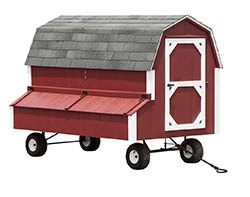 DuraTemp Chicken Coop is on wheels for portability!
