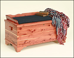 Chest with blanket