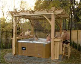 Structure to cover a hot tub