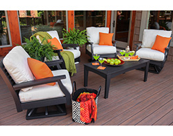 Poly wood deep seating set is durable no matter the weather
