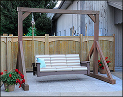 Mortise and Tenon Ruff Swing Frame for the perfect outdoor space