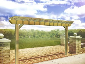 Rough-Cut-Cedar-In-Line-Pergola-A
