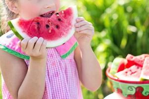 girl watermelon