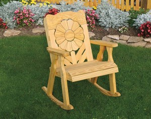 Treated-Pine-Sunflower-Rocker-6597-A