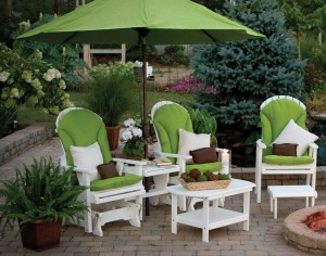 outdoor furniture with umbrella