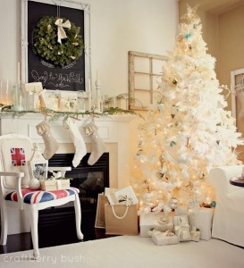 Christmas-Mantel-Decorated-in-White