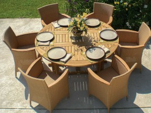 60-Teak-DropLeaf-Table-and-Full-Weave-Chair-Set-A