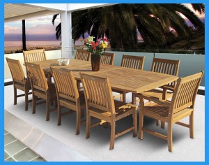96-Teak-Rectangular-Expansion-Table-and-Compass-Chair-Set