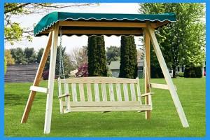 Treated-Pine-English-Garden-Swing-wA-Frame-Swing-Stand-&-Canopy2