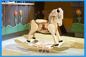 Wooden-Teddy-Bear-Painted-Rocking-Horse-B