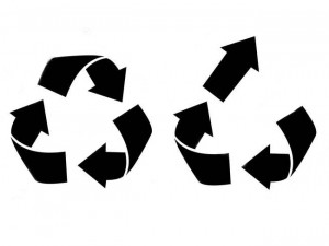 Recycling Upcycling Icons Shown