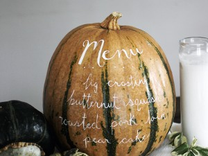 The Menu Pumpkin. Photo by Merry Thought.
