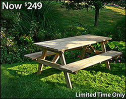 Grab some picnic grub and have a seat at the table!